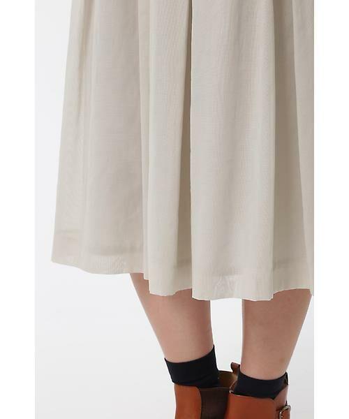 HUMAN WOMAN / ヒューマンウーマン スカート | 100/2コットンオーガンジースカート | 詳細6