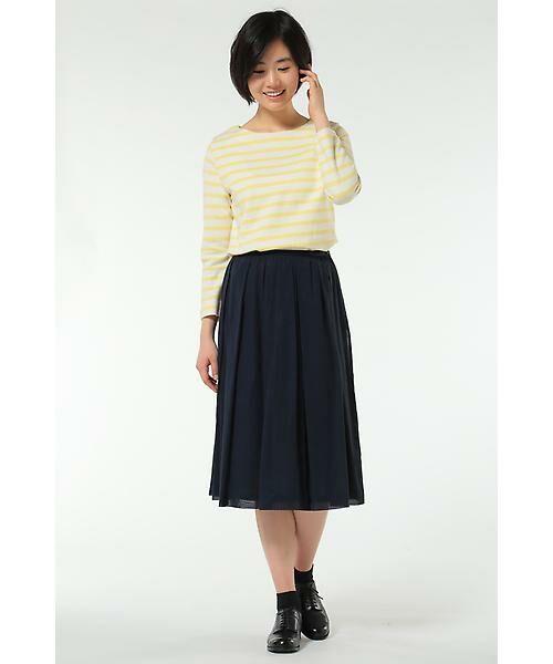HUMAN WOMAN / ヒューマンウーマン スカート | 100/2コットンオーガンジースカート | 詳細10
