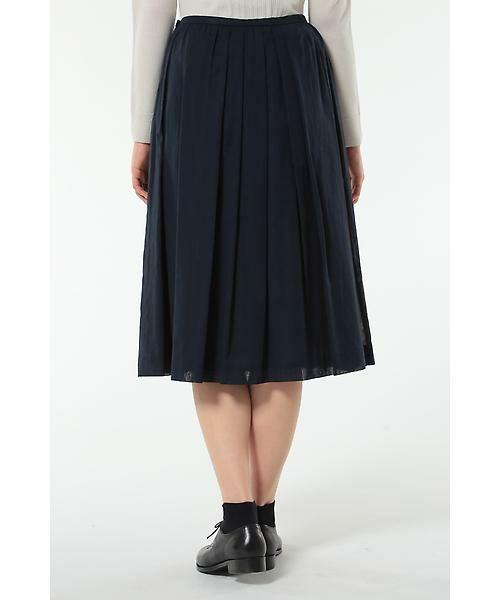 HUMAN WOMAN / ヒューマンウーマン スカート | 100/2コットンオーガンジースカート | 詳細11