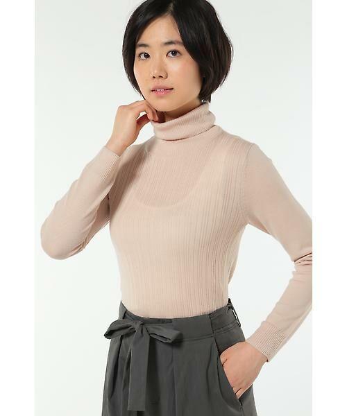 HUMAN WOMAN / ヒューマンウーマン ニット・セーター | WOOL BASIC 3ニット(ピンク)