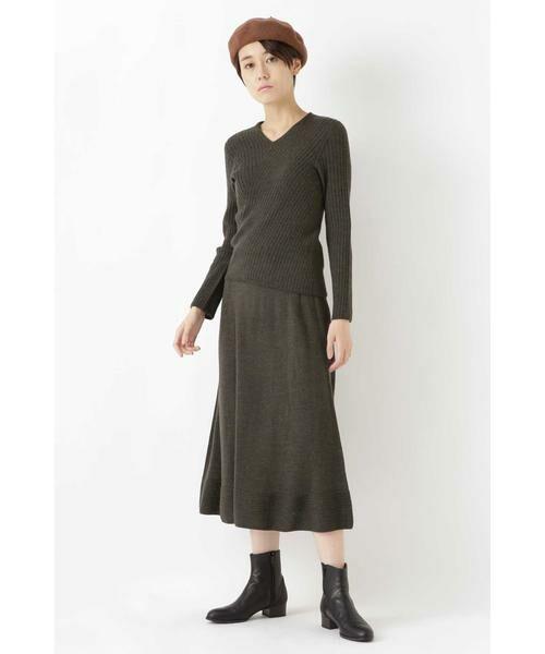 HUMAN WOMAN / ヒューマンウーマン スカート | ◆セミフレアースカート | 詳細10