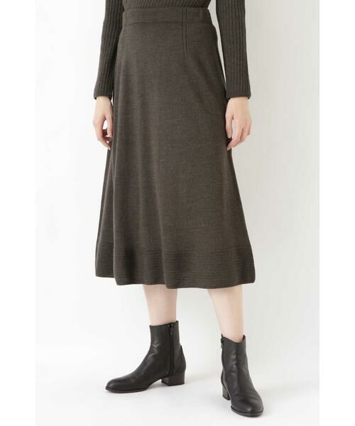 HUMAN WOMAN / ヒューマンウーマン スカート | ◆セミフレアースカート(カーキ)