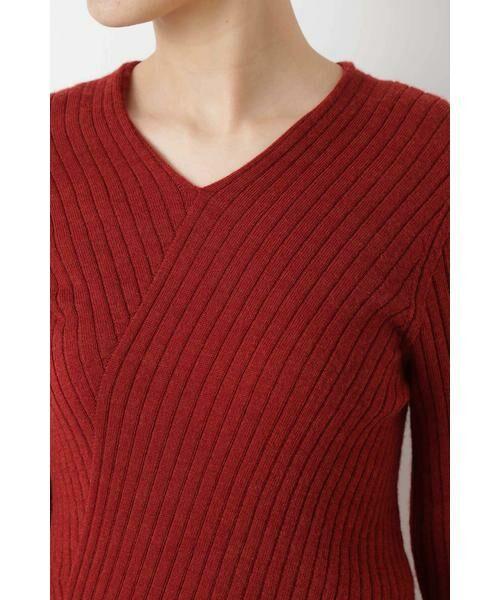 HUMAN WOMAN / ヒューマンウーマン ニット・セーター | ◆変形リブプルオーバー | 詳細5