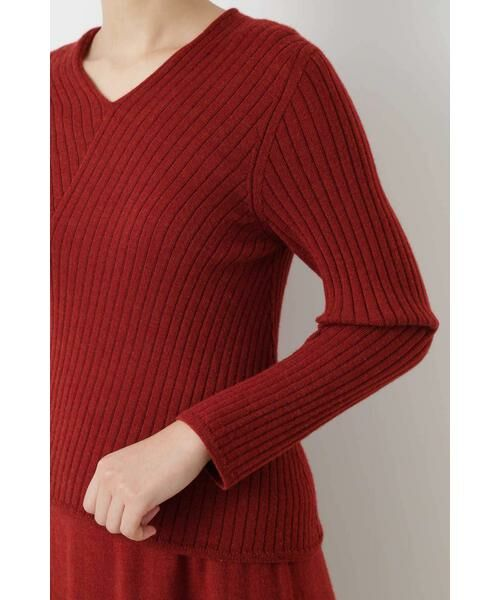 HUMAN WOMAN / ヒューマンウーマン ニット・セーター | ◆変形リブプルオーバー | 詳細6