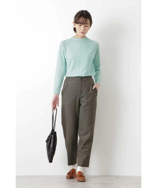 HUMAN WOMAN / ヒューマンウーマン ニット・セーター | 柄編み使いラグランプルオーバー | 詳細2