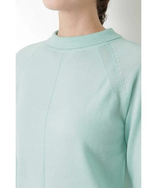 HUMAN WOMAN / ヒューマンウーマン ニット・セーター | 柄編み使いラグランプルオーバー | 詳細5