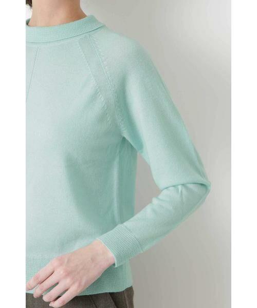 HUMAN WOMAN / ヒューマンウーマン ニット・セーター | 柄編み使いラグランプルオーバー | 詳細6