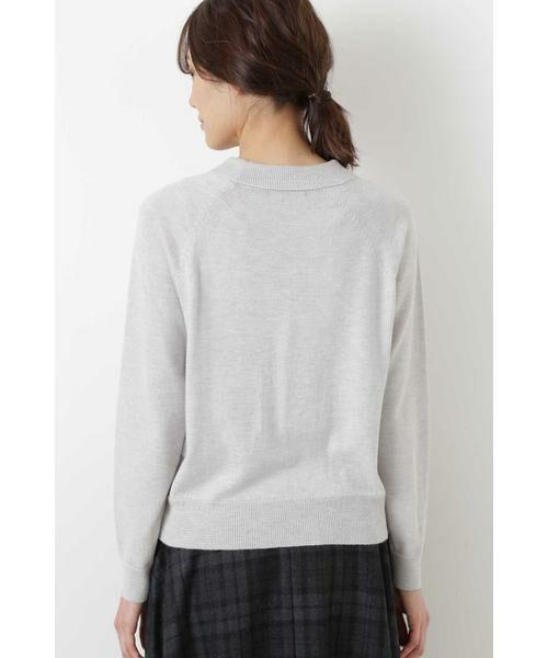 HUMAN WOMAN / ヒューマンウーマン ニット・セーター | 柄編み使いラグランプルオーバー | 詳細11