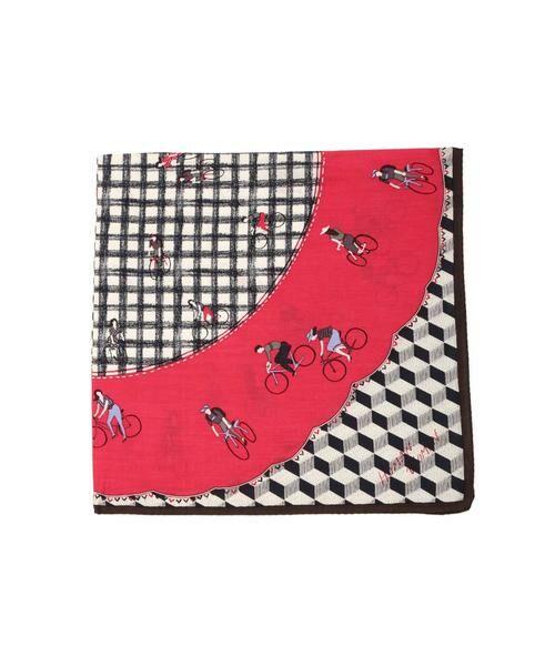 HUMAN WOMAN / ヒューマンウーマン マフラー・ショール・スヌード・ストール | ◆オリジナル サイクリング スカーフ(ピンク)