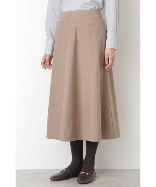 HUMAN WOMAN / ヒューマンウーマン スカート | ◆ライトモールスキンスカート(アンティークローズ)