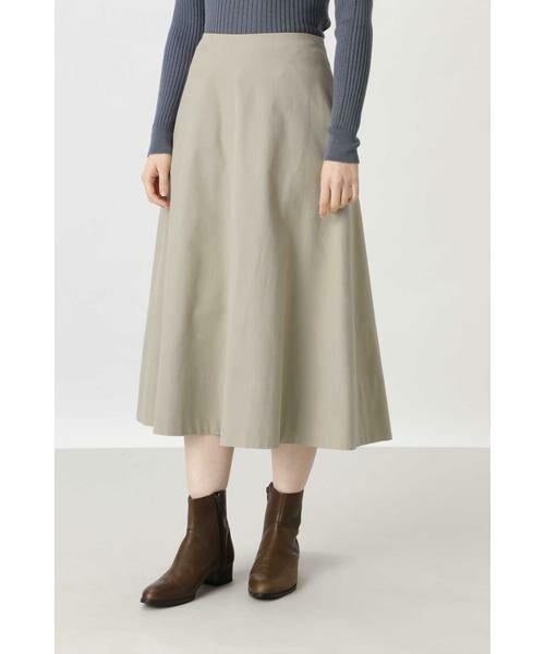 HUMAN WOMAN / ヒューマンウーマン スカート | ◆ライトモールスキンスカート(ベージュ)