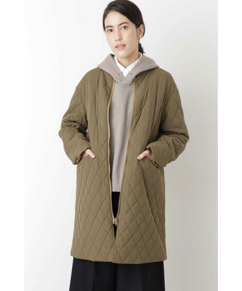 HUMAN WOMAN / ヒューマンウーマン アウター | ◆リバーシブルキルティングコート(モカベージュ×キャメル)