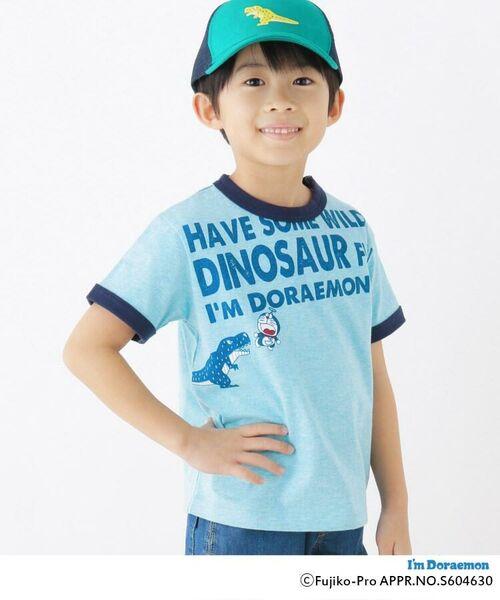 HusHusH/ハッシュアッシュ 【ドラえもん】ドラ恐竜Tシャツ グリーン(022) 90(90cm)