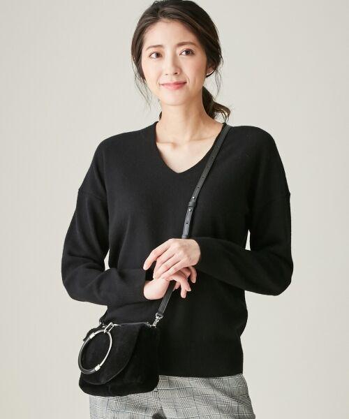 ICB / アイシービー ニット・セーター | 【カシミヤ混】Linda Vネックニット(ブラック系)