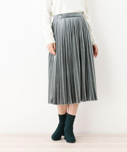 index / インデックス スカート   ベロアプリーツスカート   詳細1