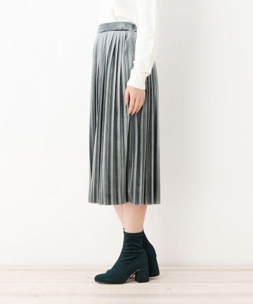 index / インデックス スカート   ベロアプリーツスカート   詳細2