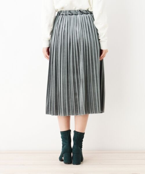 index / インデックス スカート   ベロアプリーツスカート   詳細3