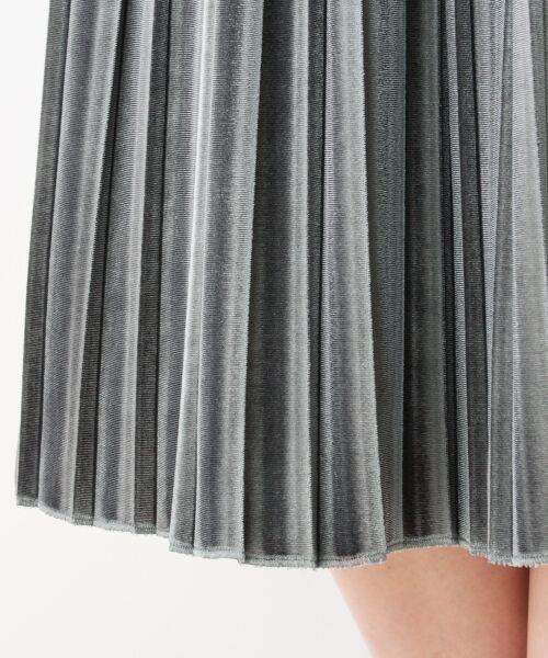 index / インデックス スカート   ベロアプリーツスカート   詳細5
