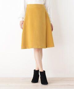 【WEB限定・洗える】ヘリンボンシャギーフレアスカート
