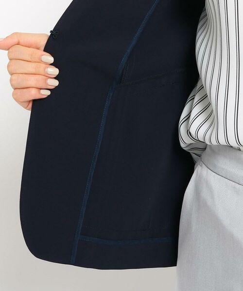 INDIVI / インディヴィ ノーカラージャケット | 【STYLE UP/マシンウォッシュ/UV/接触冷感】2WAY  カラーレスジャケット | 詳細11