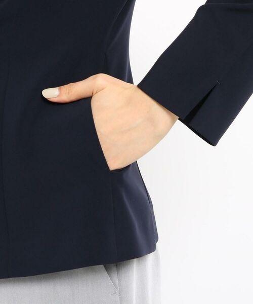 INDIVI / インディヴィ ノーカラージャケット | 【STYLE UP/マシンウォッシュ/UV/接触冷感】2WAY  カラーレスジャケット | 詳細9