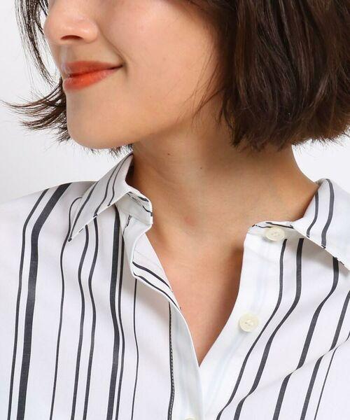 INDIVI / インディヴィ シャツ・ブラウス | ◆【マシンウォッシュ/UV/接触冷感】シルキーストライプ シャツ | 詳細5