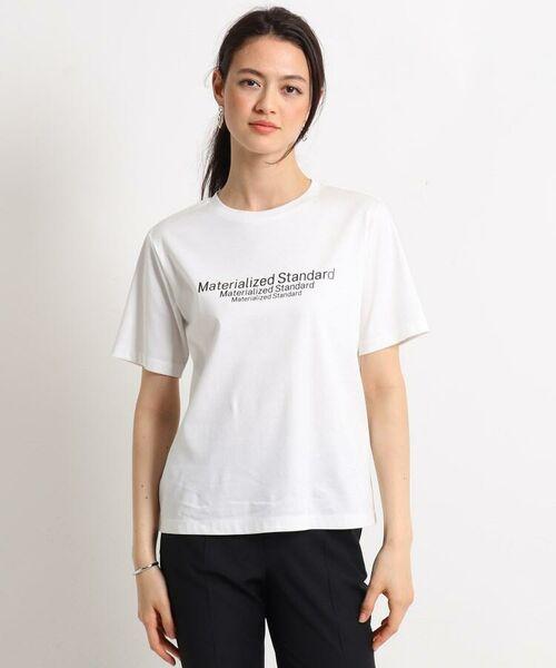 INDIVI / インディヴィ その他トップス   [L]【ハンドウォッシュ】ロゴスムースTシャツ   詳細7