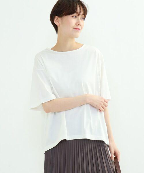 INDIVI / インディヴィ その他トップス | フレアスリーブルーズTシャツ(ホワイト(001))