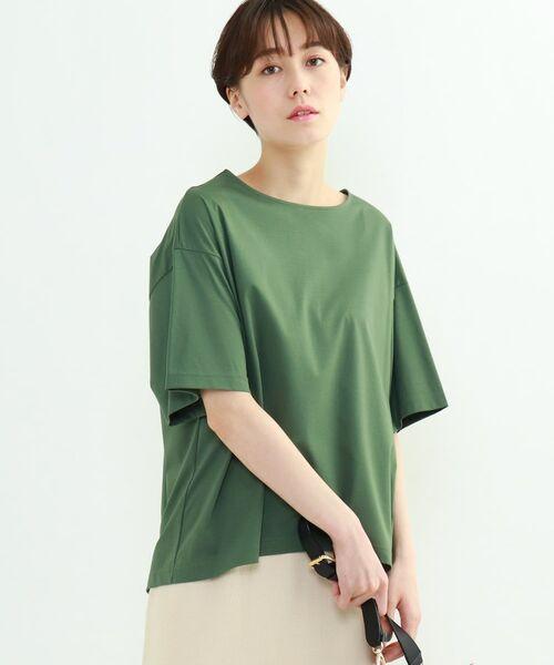 INDIVI / インディヴィ その他トップス | フレアスリーブルーズTシャツ(オリーブグリーン(626))