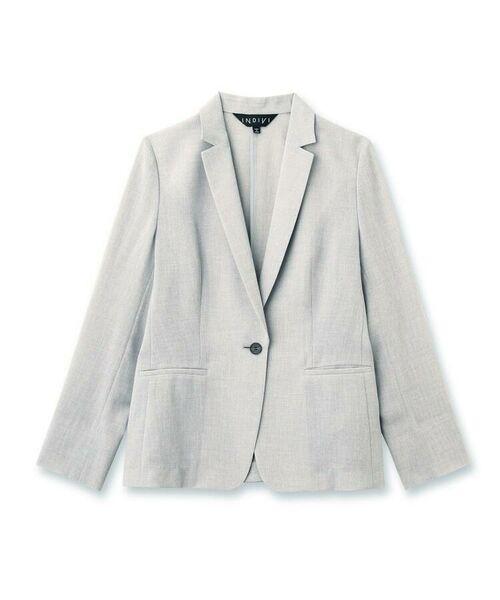 INDIVI / インディヴィ セットアップ | 【洗える】トリアセテート混テーラードジャケット | 詳細1