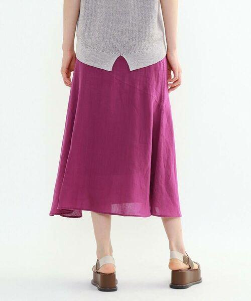 INDIVI / インディヴィ ロング・マキシ丈スカート   ラミーボイルアシメ切替マーメイドスカート   詳細21