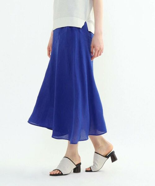 INDIVI / インディヴィ ロング・マキシ丈スカート   ラミーボイルアシメ切替マーメイドスカート   詳細28
