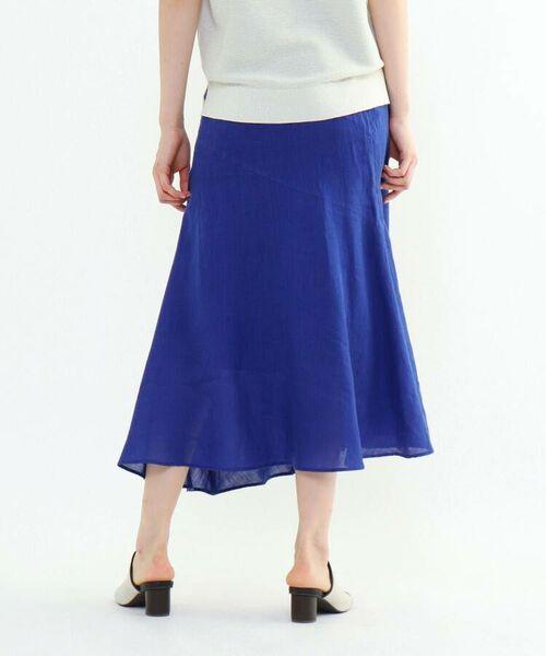 INDIVI / インディヴィ ロング・マキシ丈スカート   ラミーボイルアシメ切替マーメイドスカート   詳細29