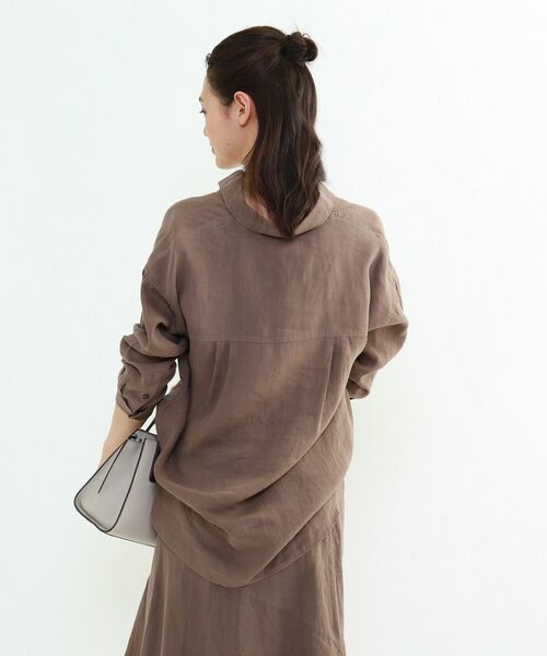 INDIVI / インディヴィ チュニック   ラミーボイルチュニックシャツ   詳細14