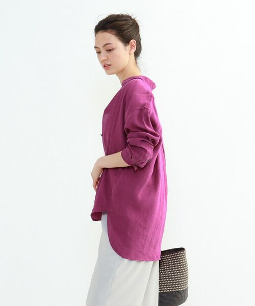 INDIVI / インディヴィ チュニック   ラミーボイルチュニックシャツ   詳細19