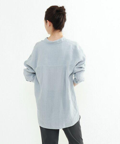 INDIVI / インディヴィ チュニック   ラミーボイルチュニックシャツ   詳細2
