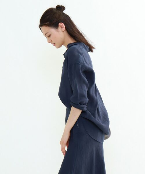 INDIVI / インディヴィ チュニック   ラミーボイルチュニックシャツ   詳細27