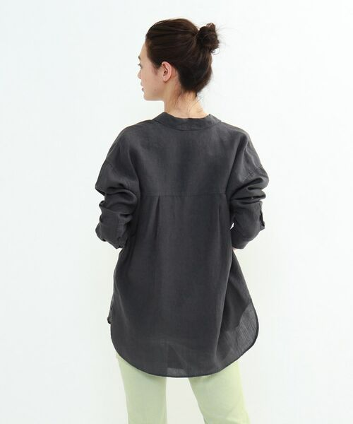 INDIVI / インディヴィ チュニック   ラミーボイルチュニックシャツ   詳細4