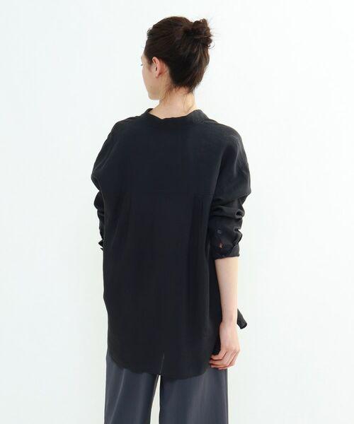 INDIVI / インディヴィ チュニック   ラミーボイルチュニックシャツ   詳細7