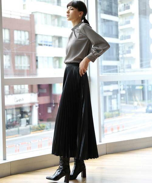 INED / イネド ミニ・ひざ丈スカート   プリーツスカート   詳細13
