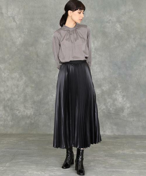 INED / イネド ミニ・ひざ丈スカート   プリーツスカート   詳細5