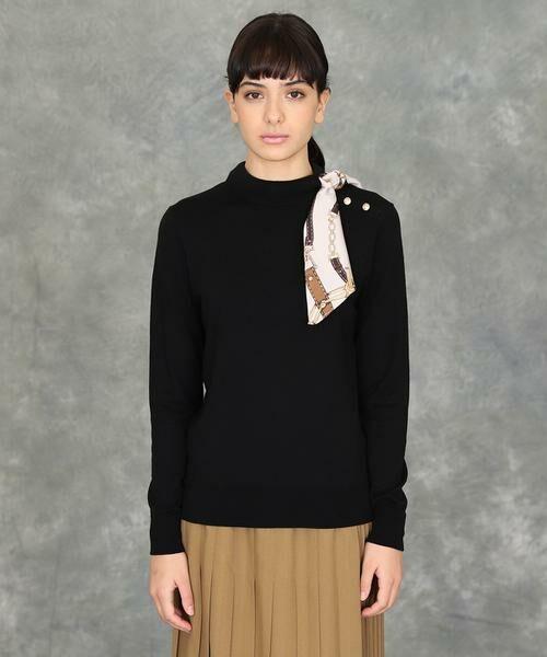 INED / イネド ニット・セーター | スカーフ付プルオーバーニット | 詳細11