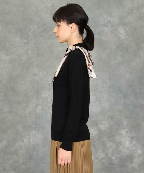 INED / イネド ニット・セーター | スカーフ付プルオーバーニット | 詳細12