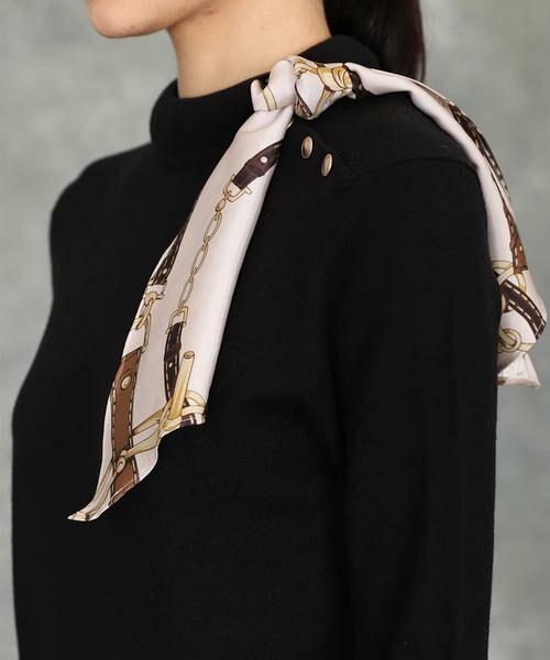 INED / イネド ニット・セーター | スカーフ付プルオーバーニット | 詳細14