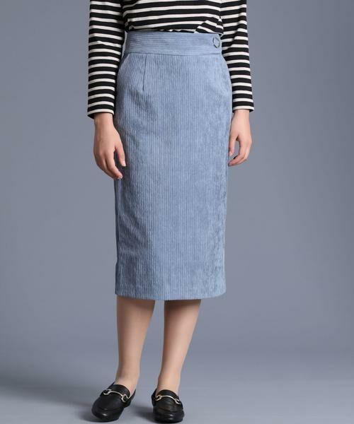 INED / イネド ミニ・ひざ丈スカート | 《Luftrobe》コーデュロイタイトスカート | 詳細2