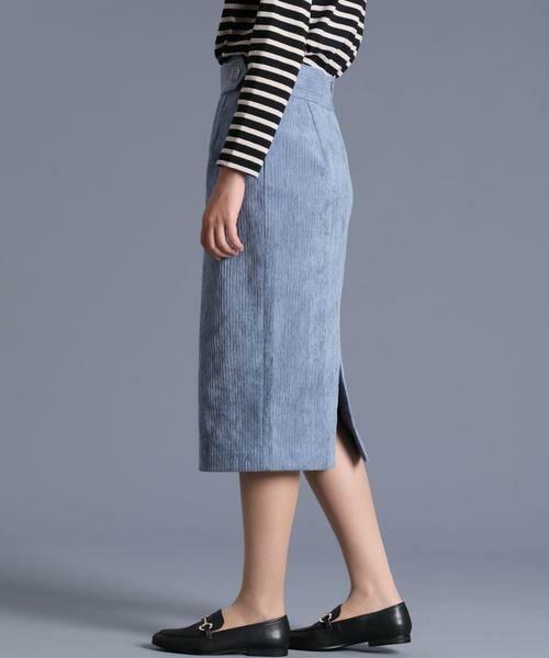 INED / イネド ミニ・ひざ丈スカート | 《Luftrobe》コーデュロイタイトスカート | 詳細3
