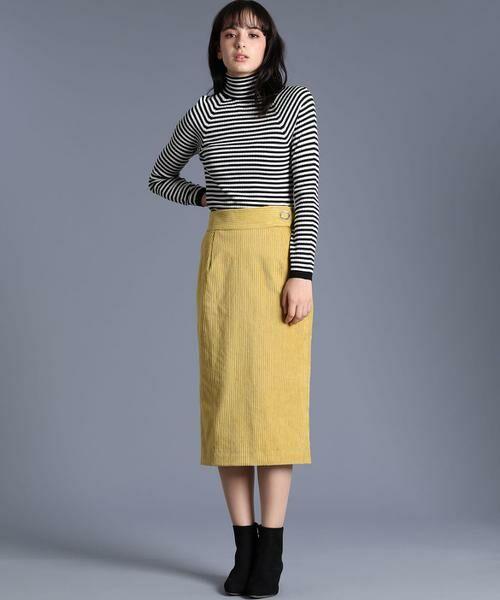 INED / イネド ミニ・ひざ丈スカート | 《Luftrobe》コーデュロイタイトスカート | 詳細9