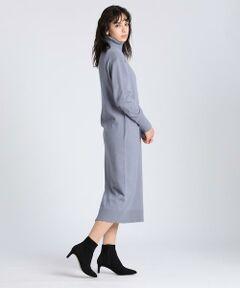 着るだけでリラックスムードが漂うニットワンピース。タートルネックで首元の冷気を遮断します。また素材にはアンゴラの毛が含まれており非常に温かく、肌触りが滑らかでとても気持ち良い着用感です。一枚で着るのはもちろん、レギンスやデニムとも好相性、ロングコートを羽織れば今期らしいスタイルが完成します。<br/><br/>・裏地なし<br/>・水洗い可<br/><br/>