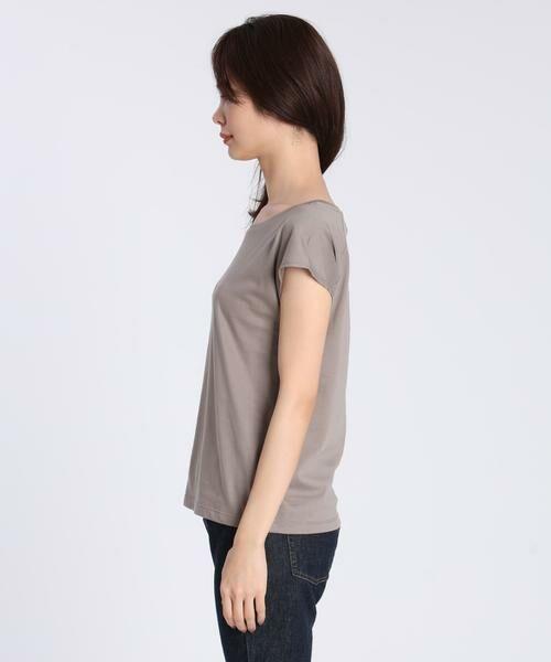 INED / イネド Tシャツ | フレンチスリーブカットソー《スビン綿Mix天竺》 | 詳細3