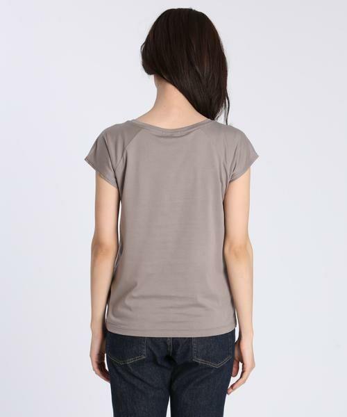INED / イネド Tシャツ | フレンチスリーブカットソー《スビン綿Mix天竺》 | 詳細4